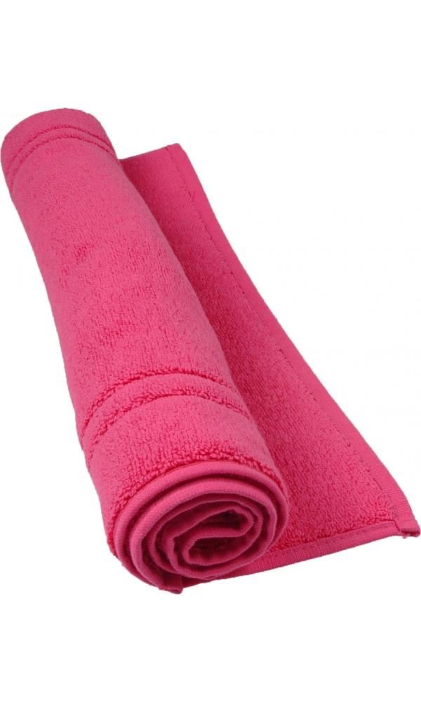 Tapis de bain 50 x 80 cm en Coton couleur Rose indien