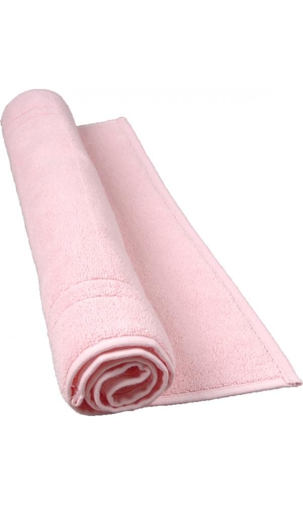 Tapis de bain 50 x 80 cm en Coton couleur Rose (Rose)