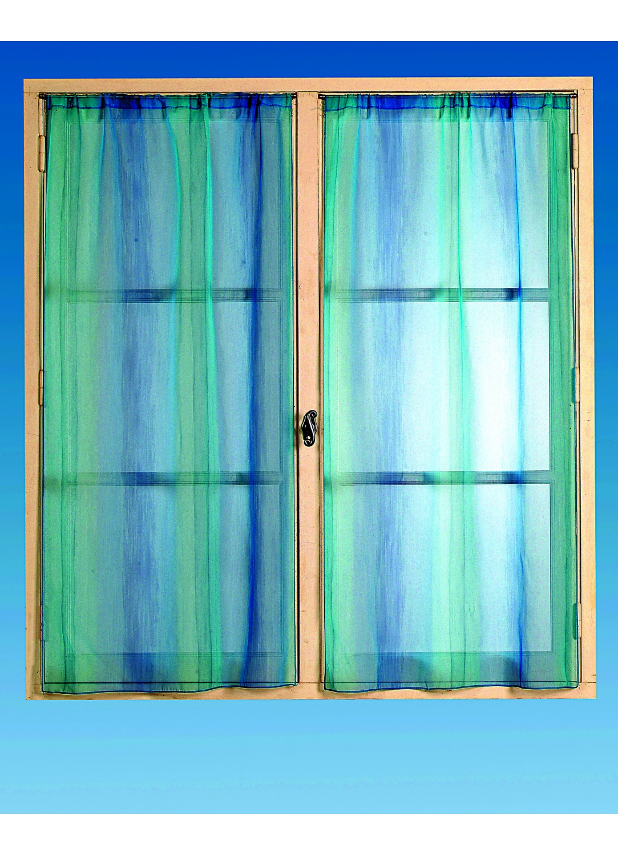 fenstergardine einfarbig blau homemaison vente en ligne fenstergardinen. Black Bedroom Furniture Sets. Home Design Ideas