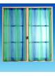 Vitrage Imprimé Faux Uni  Bleu