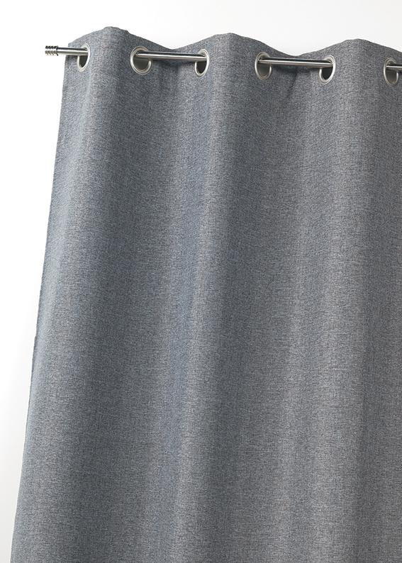 Rideau en toile effet lin isolant thermique