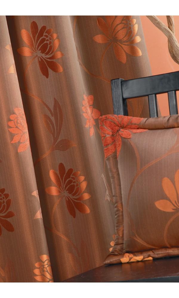 Rideau en Jacquard motif fleurs