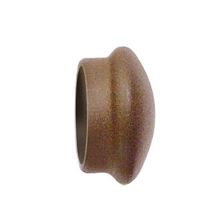 Paire d'Embouts Fer Forgé Rouille pour barre Ø 28 mm (Rouille)
