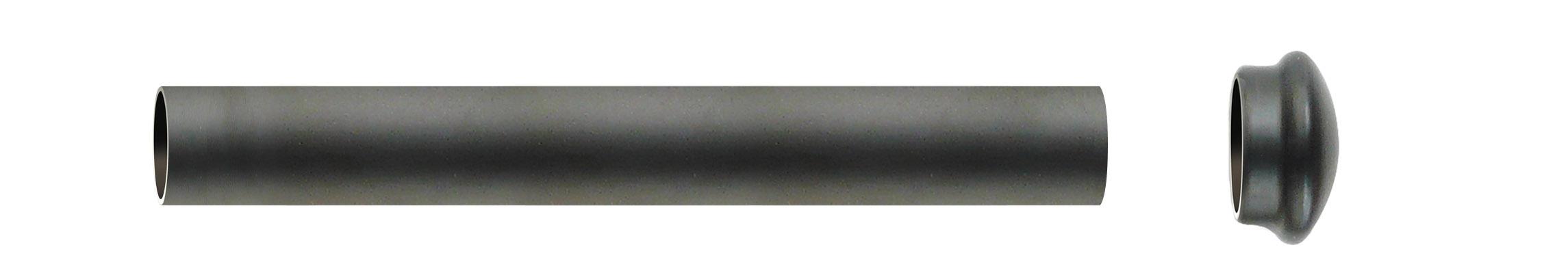 Tube nu en Fer Forgé Noir 1 m 50 (Noir)
