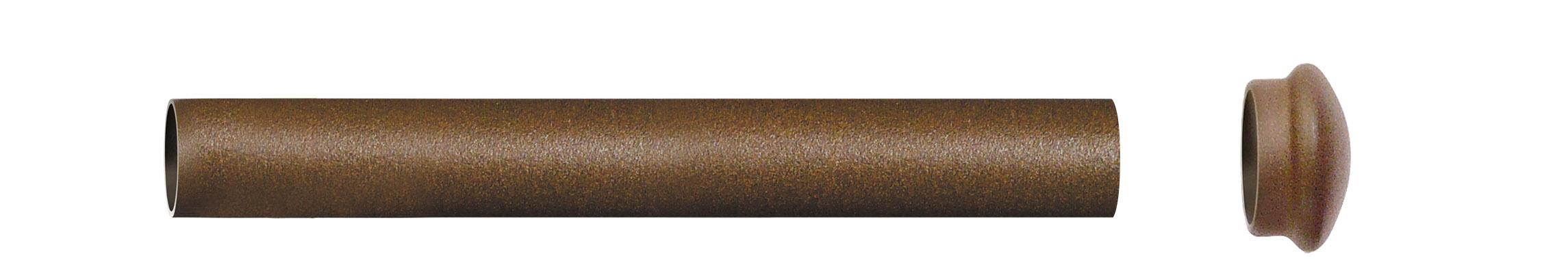 Tube nu en Fer Forgé Rouille 2 m (Rouille)
