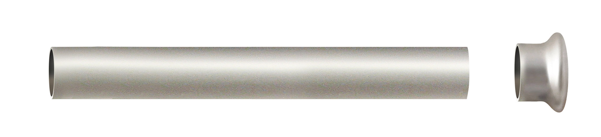 Tube Nu Nickel Matt 1 m 50 diam 28 mm (Nickel)