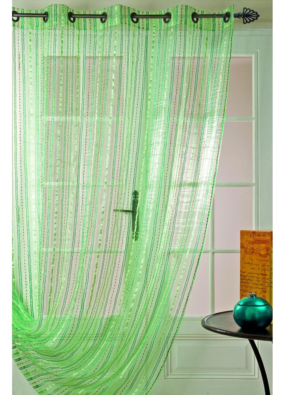 Baño Con Toalla Verde Apensar: baño > Toalla de baño >Visillo en organza con rayas (Verde) Volver