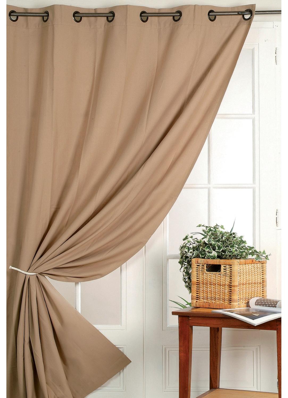 rideau 100 occultant vu sur d co anthracite ivoire beige prune chocolat rubis. Black Bedroom Furniture Sets. Home Design Ideas