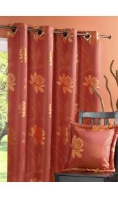 Cortinas en Jacquard dibujo flores