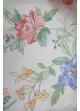 Voilage imprimé fleurs  Brique
