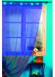 Rideau Organza Uni et Teint  Bleu