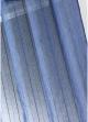 Paire voilages vitrages étamine fines rayures tissées  Bleu