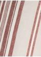 Paire voilages vitrages étamine brodée 'Rivage' Rouge