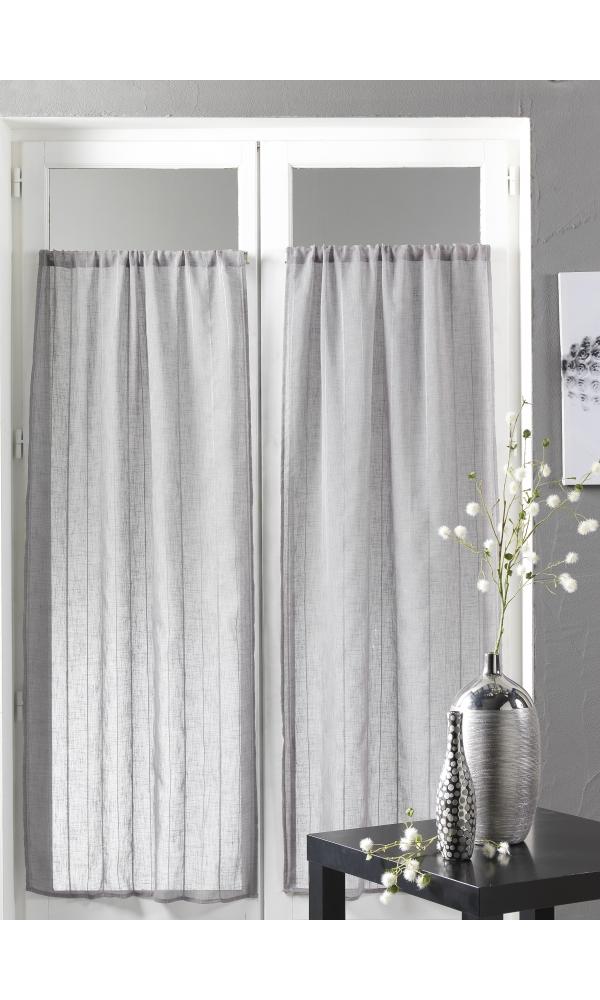 petits voilages vitrages homemaison vitrage la paire avec tringle vitrage autocollante. Black Bedroom Furniture Sets. Home Design Ideas