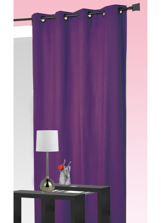 rideau ameublement 80 occultant prune noir bordeaux ivoire anis bleu taupe. Black Bedroom Furniture Sets. Home Design Ideas