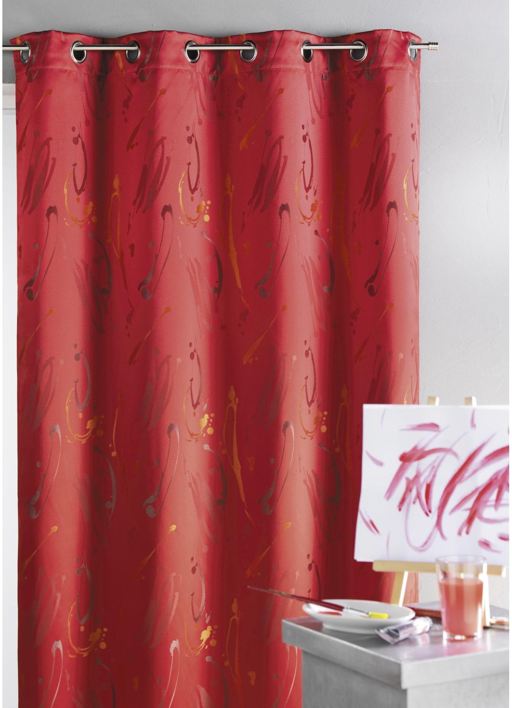 rideau ameublement jacquard design bordeaux beige homemaison vente en ligne rideaux. Black Bedroom Furniture Sets. Home Design Ideas