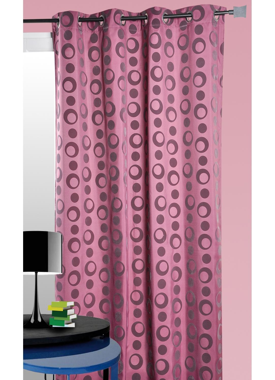rideau ameublement toile flock e g om trique prune. Black Bedroom Furniture Sets. Home Design Ideas