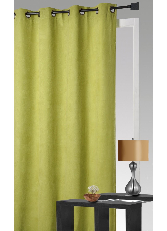 rideau aspect velour anis terracotta taupe lin chocolat homemaison vente en. Black Bedroom Furniture Sets. Home Design Ideas