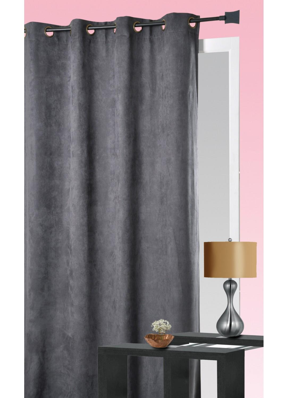 rideau aspect velours taupe terracotta lin prune chocolat rubis homemaison. Black Bedroom Furniture Sets. Home Design Ideas