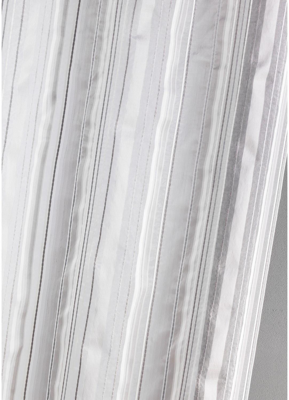 Cortina visillo de organza a rayas gris azul madera for Cortinas de visillo