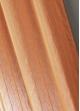 Voilage étamine unie à rayures verticales  Mandarine