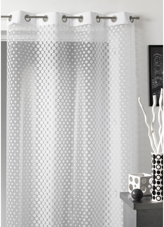 Rideaux homemaison sp cialiste rideaux voilages for Rideau blanc motif