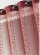 Rideau voilage organza jacquard ronds en bandes verticales  Bordeaux
