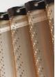 Rideau voilage organza jacquard ronds en bandes verticales  Chocolat