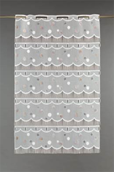 Voilage brise bise en maille classique (Blanc)