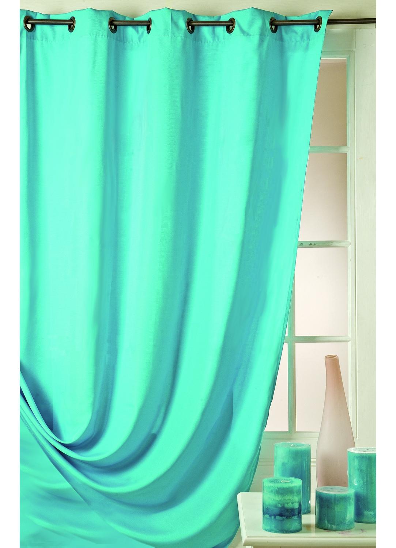 Rideau turquoise tous les objets de d coration sur elle maison for Rideau turquoise