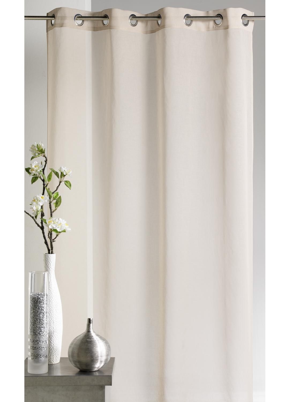 voilage en etamine unie lin lilas bordeaux ivoire anis taupe gris. Black Bedroom Furniture Sets. Home Design Ideas