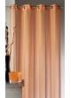 Voilage en étamine à rayures verticales tons sur tons  Orange