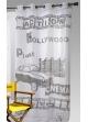 Voilage imprimé Hollywood blanc / noir