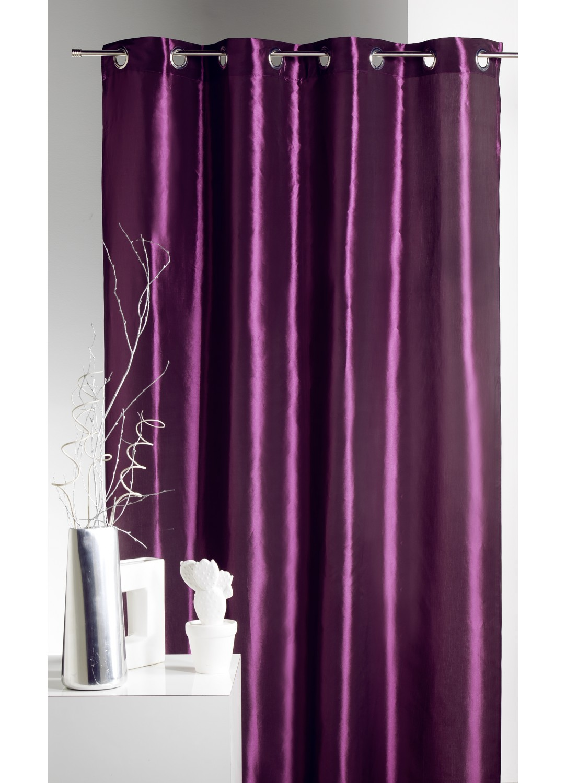 rideau ameublement en taffetas uni de couleurs prune rouge mandarine taupe gris. Black Bedroom Furniture Sets. Home Design Ideas