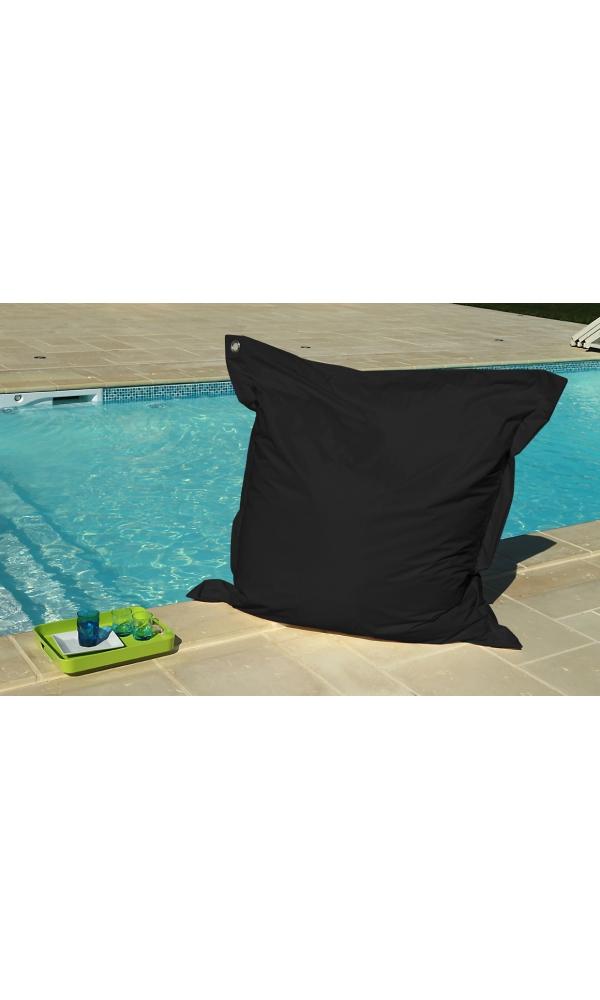 big coussin noir avec oeillet noir homemaison vente en ligne bigs coussins microbilles. Black Bedroom Furniture Sets. Home Design Ideas