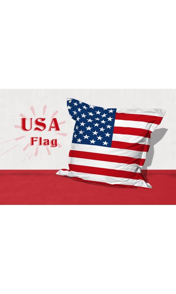 Big Coussin USA Flag (blanc /  rouge)
