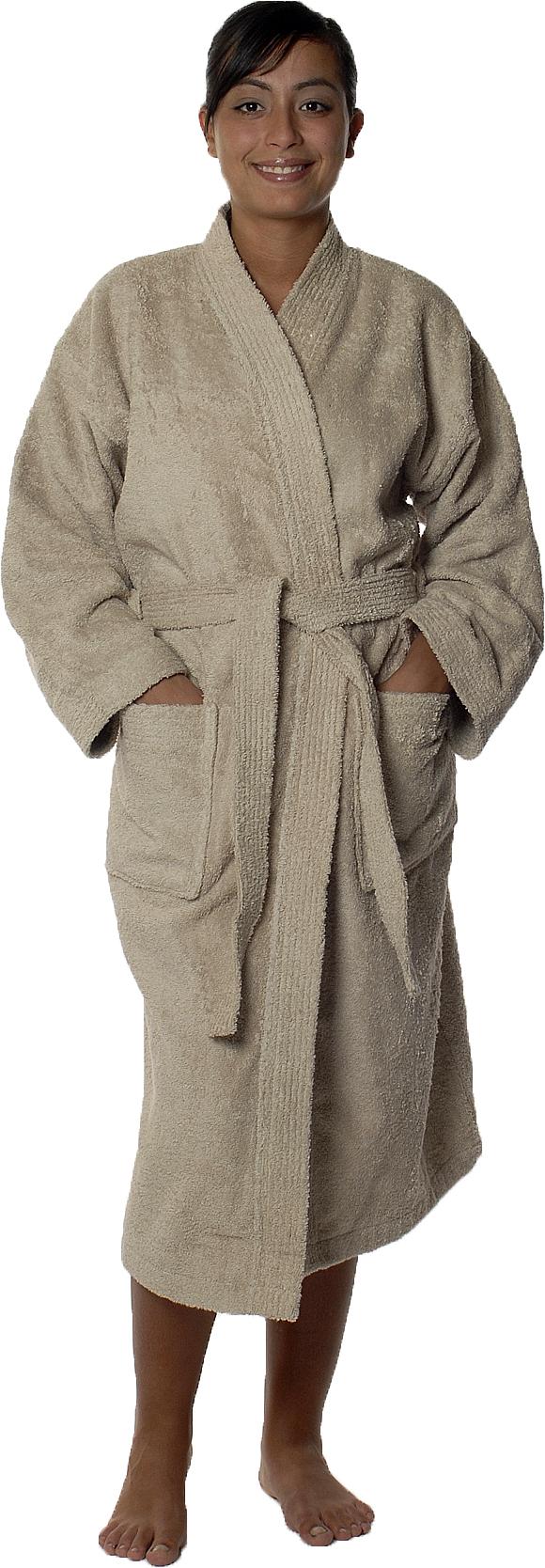 Peignoir col kimono en Coton couleur Ficelle Taille M (Ficelle)