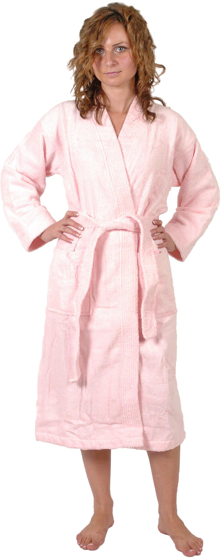 Peignoir col kimono en Coton couleur Rose Taille XL (Rose)