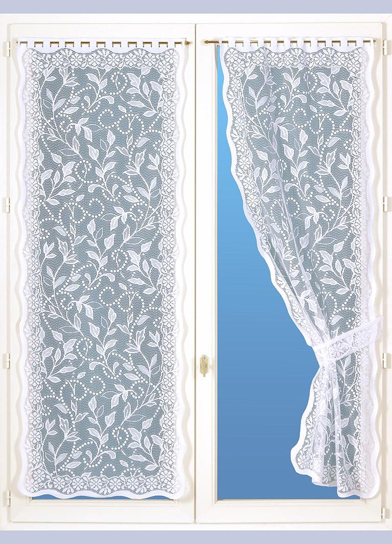 paire de voilages bonne femme avec embrasses blanc homemaison vente en ligne petits. Black Bedroom Furniture Sets. Home Design Ideas