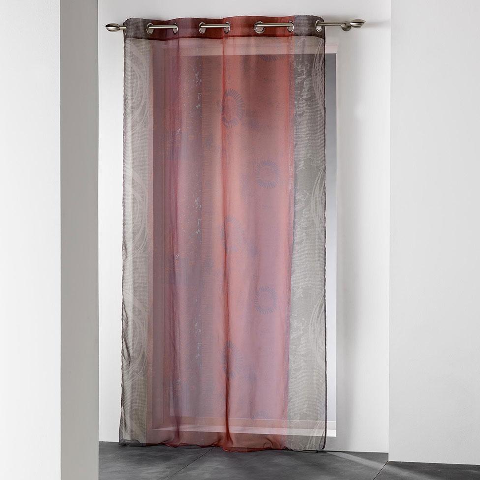 voilage imprim latino rouge naturel homemaison. Black Bedroom Furniture Sets. Home Design Ideas