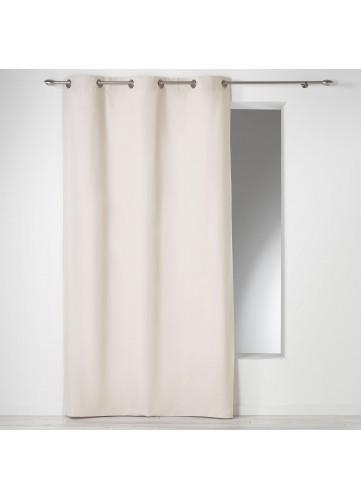Rideau Uni en 100% Coton - Naturel - 140 x 280 cm
