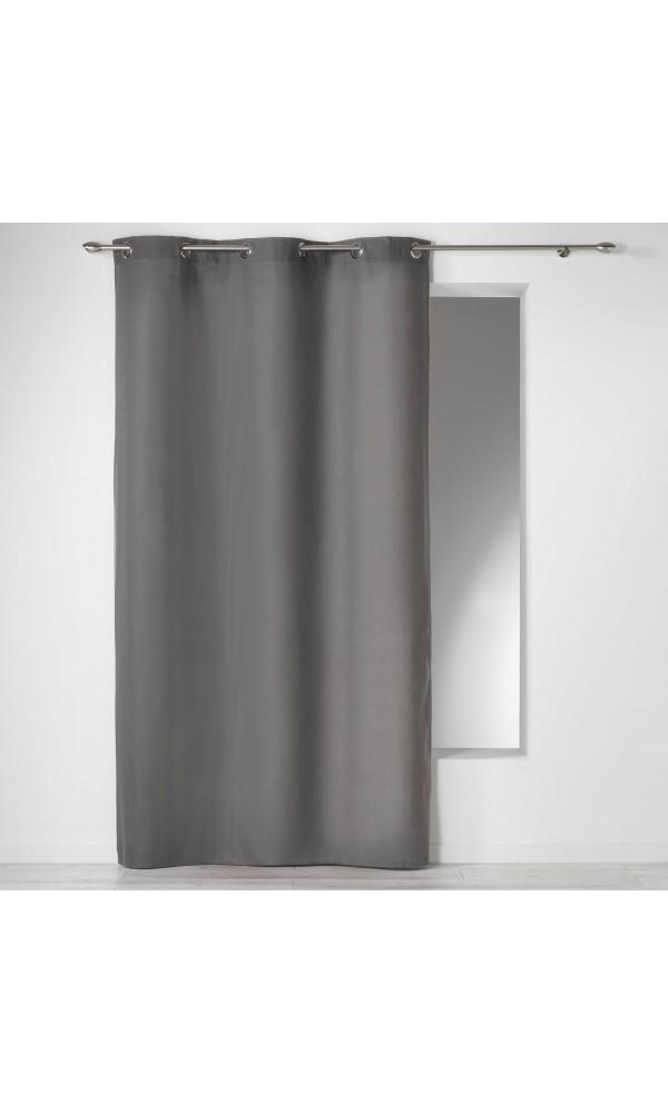 Rideau Uni en 100% Coton - Ardoise - 140 x 280 cm