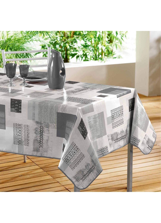 nappe rectangulaire en pvc impressions g om triques. Black Bedroom Furniture Sets. Home Design Ideas