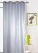 Rideau gris clair à motifs Géométriques à Effet 3D