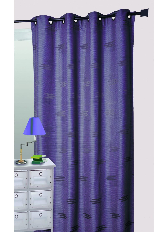 rideau ameublement en jacquard formes g om triques prune homemaison vente en ligne rideaux. Black Bedroom Furniture Sets. Home Design Ideas