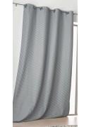 Rideau gris foncé à motifs Géométriques à Effet 3D