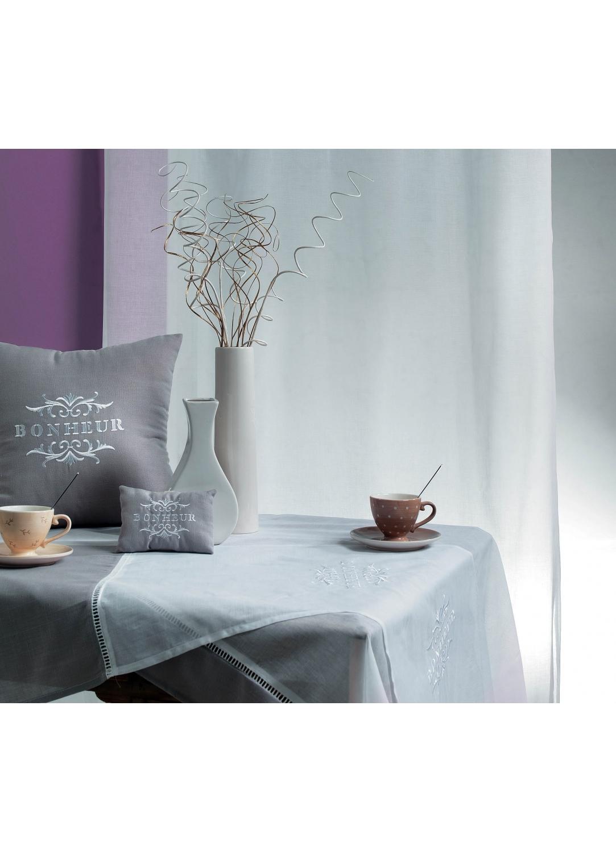 chemin de table brod bonheur ivoire lilas homemaison vente en ligne chemins de table. Black Bedroom Furniture Sets. Home Design Ideas