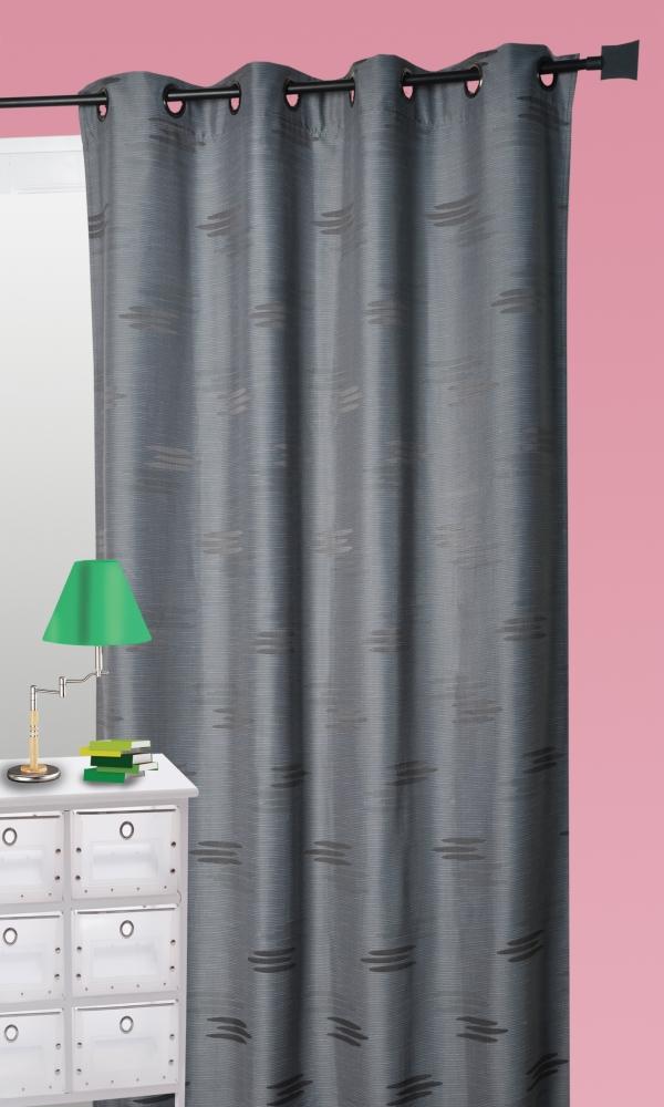 rideau ameublement en jacquard formes g om triques anthracite bordeaux prune. Black Bedroom Furniture Sets. Home Design Ideas