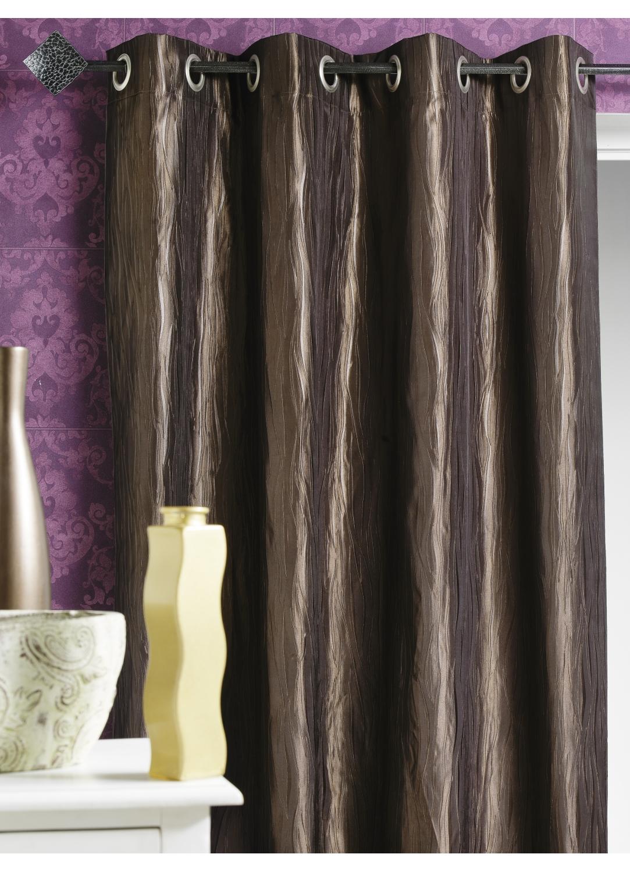 rideau d ameublement en taffetas froiss chocolat noir blanc taupe lin prune. Black Bedroom Furniture Sets. Home Design Ideas