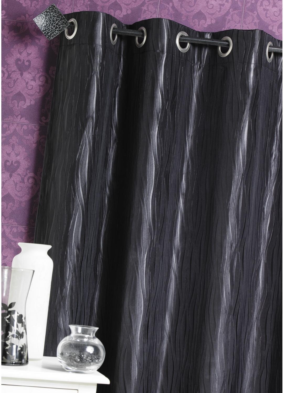 rideau d ameublement en taffetas froiss noir blanc rouge taupe lin prune. Black Bedroom Furniture Sets. Home Design Ideas